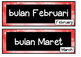 Months of the Year poster FLASHCARDS bahasa Indonesia ~ LO