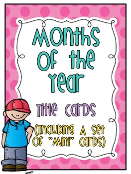 """""""Months of the Year"""" title cards (freebie)"""