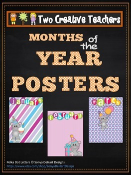 Months of the Year with Hippo Clip Art
