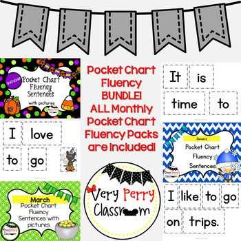 Monthly Pocket Chart Fluency Bundle