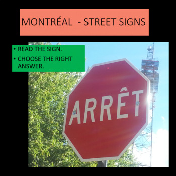 What do these Montreal signs mean? French - beginners