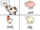 Moo! Sight Word Game