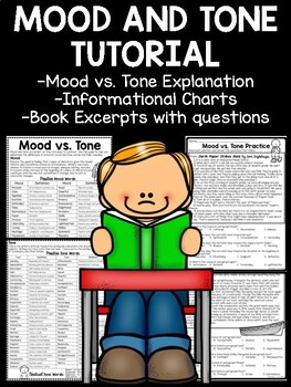 Mood and Tone Practice, Set 1, Middle School ELA Test Prep