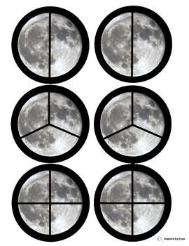 """""""Moon"""" Fraction Circles for Autism"""