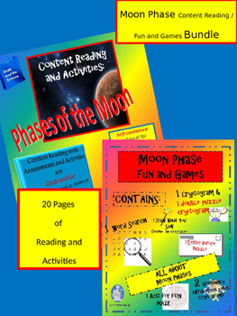 Moon Phase Bundle Content Reading and Fun and Games