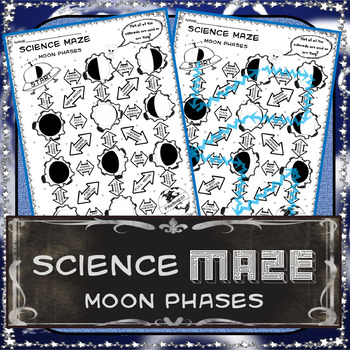 Moon Phase Maze 8th Grade Science