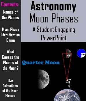 Phases of the Moon PowerPoint (Space Science/ Astronomy Unit)