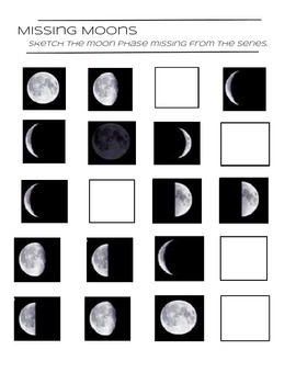 Moon Phases - Identify the Missing Moon Phase