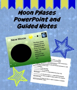 Moon Phases Interactive Notebook Page and Guided Notes