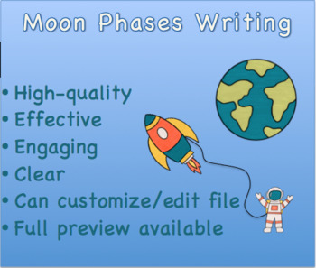 Moon Phases Writing