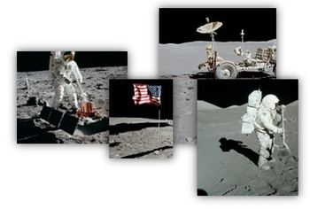 Moon Surface Images - Sand Table