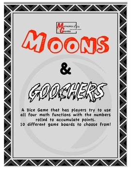 Moons & Goochers - Dice Game for Adding, Subtracting, Mult