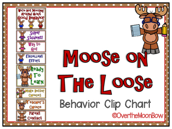 Moose on the Loose Themed Behavior Clip Chart