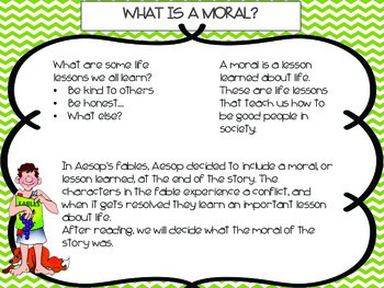 Moral of a Fable Lesson