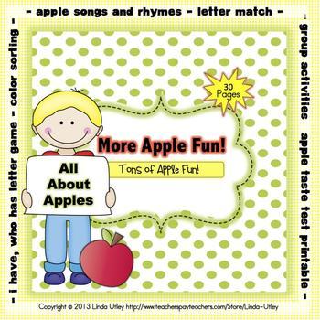 Apple Theme Printable Activities