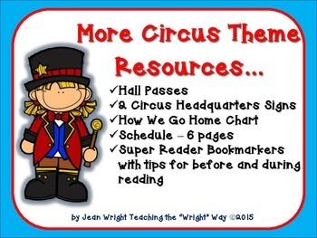 More Circus Theme Resources