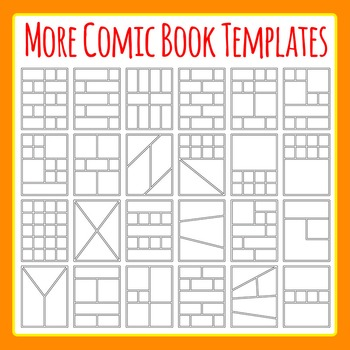 More Comic Book Templates / Graphic Novel Templates Clipar