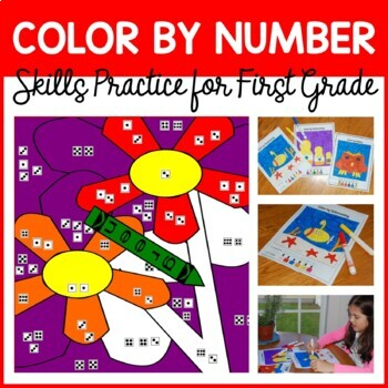 Color By Number #2 (first grade) Color by Number, Addition