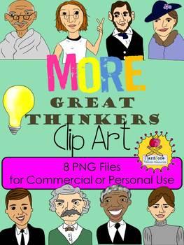 More Great Thinkers Clip Art {Nelson Mandela Helen Keller