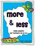 More & Less Math Station