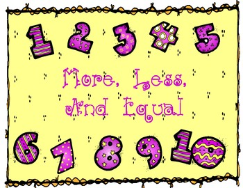 More, Less or Equal ~ Greater Than Less Than Common Core &