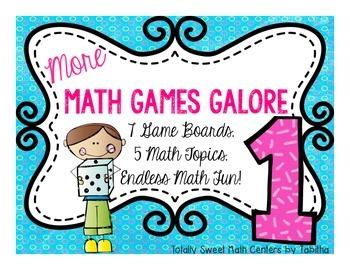 More Math Games Galore Gr. 1 seven board games, five 1st g