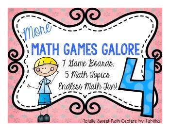 More Math Games Galore Gr. 4 seven board games, five 4th g
