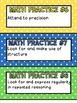 More Math Practice Mini Poster Sets