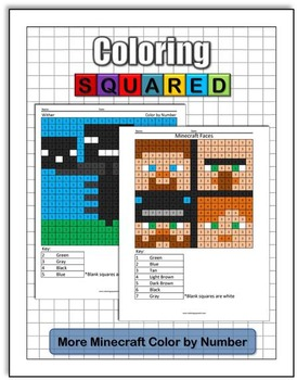 More Minecraft: Color by Number