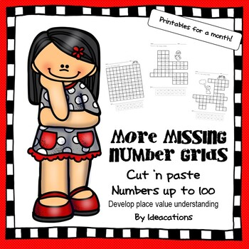 More Missing Number Grids! - Numbers up to 100
