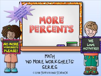 More Percents Activity ( A No More Worksheet Series Math A