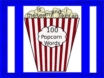 More Popcorn Sight Words for Yvonnee and Everyone Else