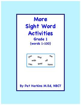 More Sight Word Activities Grade 1