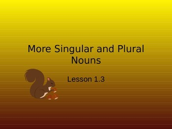 More Singular and Plural Nouns