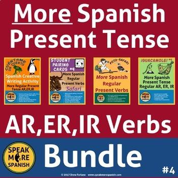 More Spanish Regular Present Tense BUNDLE #4* Presente Ver