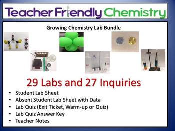Chemistry Labs: Teacher Friendly Chemistry Labs and Activi