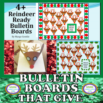 #resourcesthatgive More Than 4 Reindeer Ready Bulletin Boards Kit