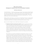 More Than Just Facts: Strategies for Making History Intere