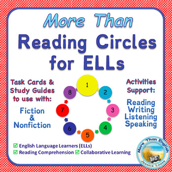 More Than READING CIRCLES Task Cards for ELLs