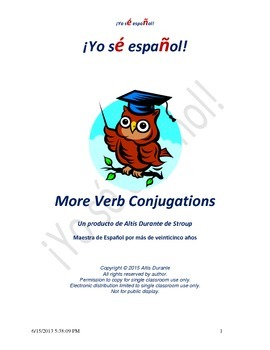 More Verb Conjugations