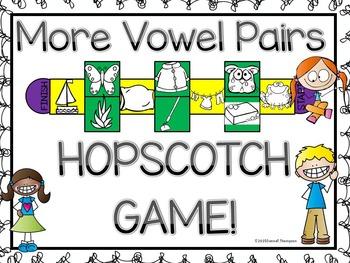 Phonics Vowel Pairs: Set Two (Hopscotch Game)