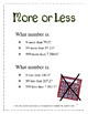 More or Less - A Warm-up Math Activity