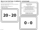 More or Less Card Game (Subtraction 0-20) 1st/2nd Grade BL