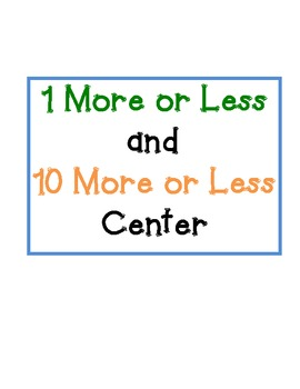 More or Less Math Center