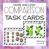 Comparison Task Cards (More & Less)