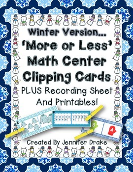 More or Less?  Winter Math Clipping Center PLUS Recording