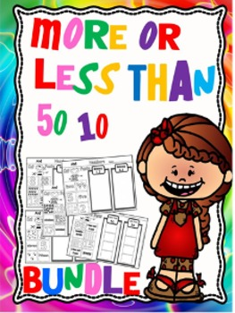 More or less than worksheets growing bundle.