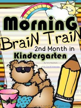 Morning Work - Math & Literacy {Morning Brain Train 2nd Mo