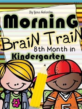 Morning Work - Math & Literacy {Morning Brain Train 8th Mo