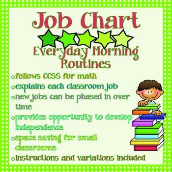 Morning Calendar Routine Job Chart